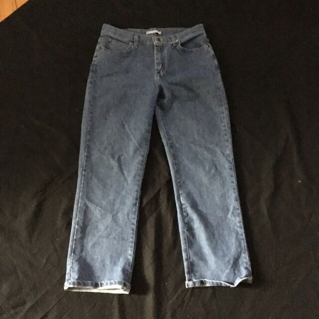 LEE Mom Jeans Denim 10 Petite Blue Retro Rocker Relaxed Fit at the Waist
