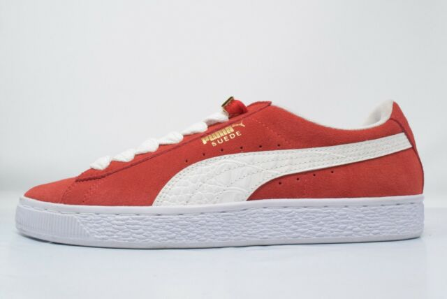 buy online 66473 764a8 Men's PUMA Suede Classic Bboy Fabulous 1968 Flame Scarlet-white Shoes Size 9