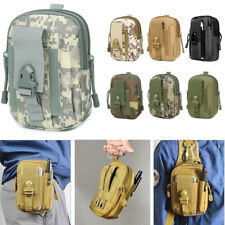 Hiking Military Camp Phone Pocket Tactical Molle Pouch Belt Waist Fanny Pack Bag