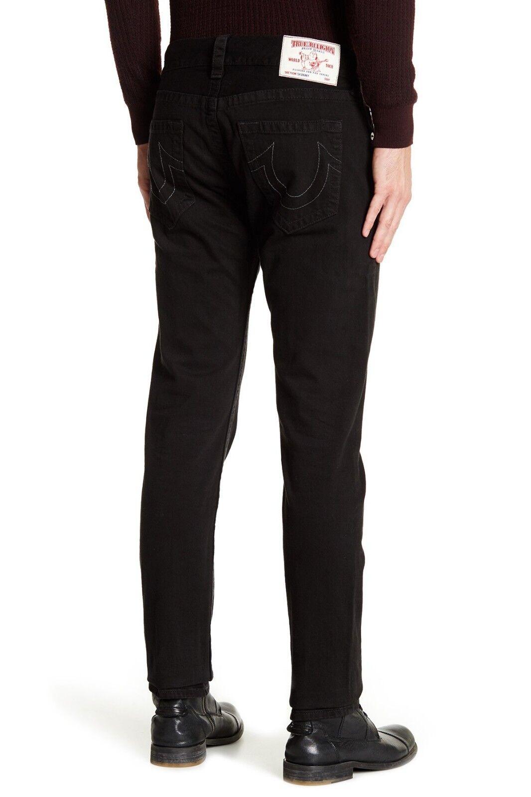 True Religion Men S Basic Skinny No Flaps Jeans In Jet Black Wash Mozj60bj9 Ebay