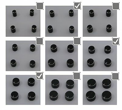 Potentiometer Knopf für 6mm Welle Farbe wählbar