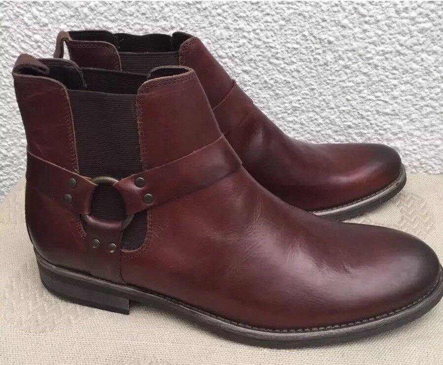 Next Leder Chelsea Stiefel Dark Dark Dark Braun Größe 11 EUR 45 Work Formal Western Style bb96e5