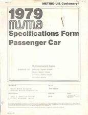 1979 Buick Century Regal LeSabre AMA Specs Brochure a262-M988KZ