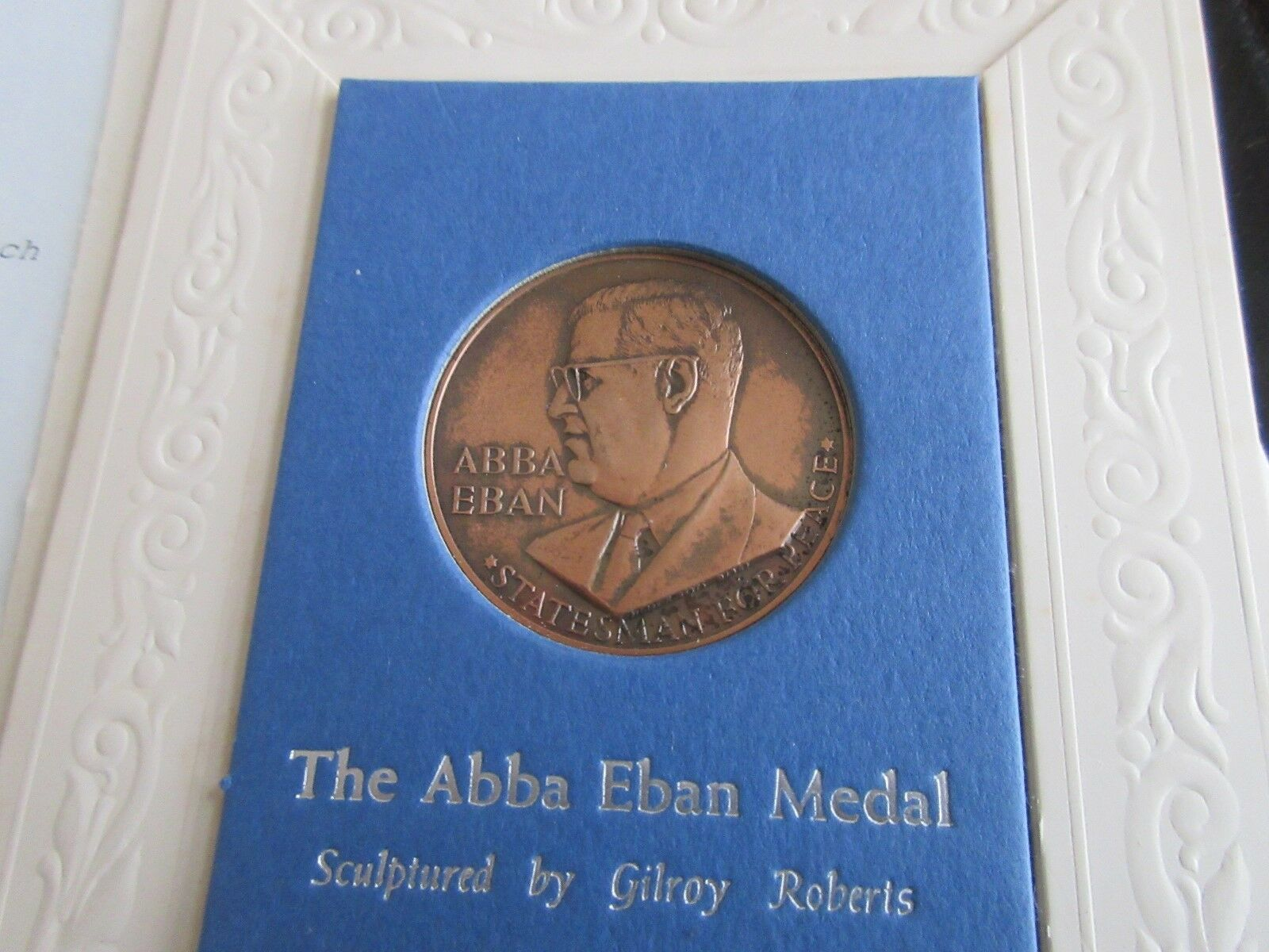 Israel , The Abba Eban Medal , Bronze , Uncirculated