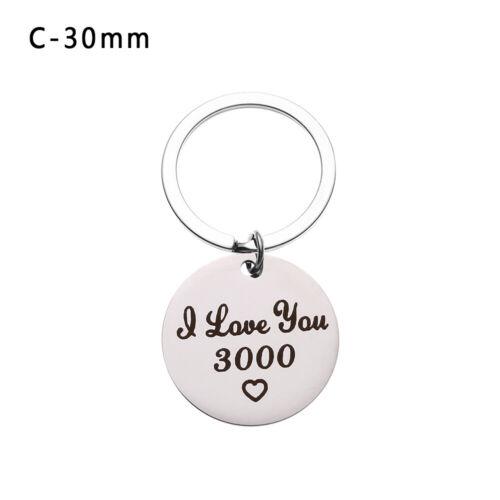 Gift Lovers Present Jewelry Car Pendant I Love You 3000 Keyring Key Ring Keyfob