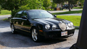 "2002 Jaguar S Type ""R"": black on black, No rust"