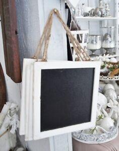 Goede Kreidetafel Wandtafel 22x22cm weiß shabby Dekotafel Holztafel RH-91