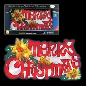 Large Window LED Merry Christmas Light up Sign Battery ...