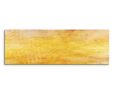 150x50cm Panoramabild Paul Sinus Art Abstrakt gelb braun schwarz weiß Wohnzimmer