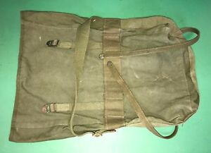 US Military Army Canvas Combat Field Pack M-1956 Vietnam War Era OD Green VGC