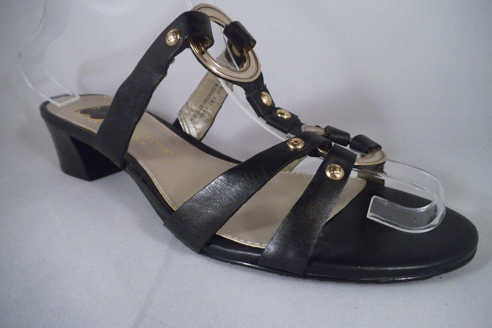 Nuevo Nuevo Nuevo Sandalias de Liz Claiborne de Nueva York, Ribete De Metal Negro Talla EE. UU. 8.5 UK 6 EUR 30  ahorre 60% de descuento