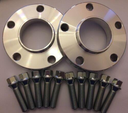 10 X M14X1.25 Plata Pernos Mini 66.6 2 x cubo de la Rueda de Aleación Separadores De Plata 20 mm
