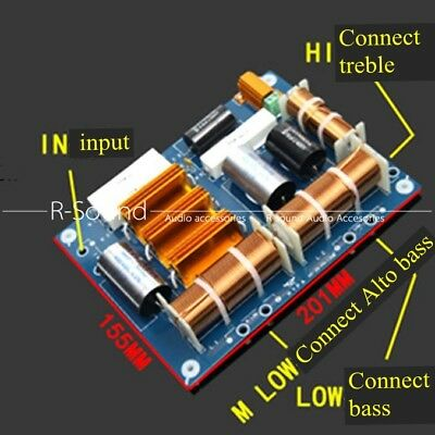 """Bass*2+Treble Divider 2way crossover 800-1200W for dual 15/""""//18/"""" Speaker"""
