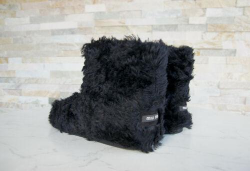 Miu Miu 40 fell botas botines botín Boot zapatos negro nuevo ex PVP 450 €