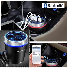 Bluetooth Manos libres Transmisor de FM reproductor de MP3 +3-USB Cargador +2 - cigarrillos Lighte