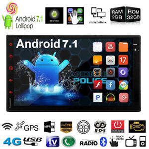 "Android 7.1 7"" Octa Core HD 1080P 4G Double 2DIN GPS Car Radio Stereo MP5 Player"