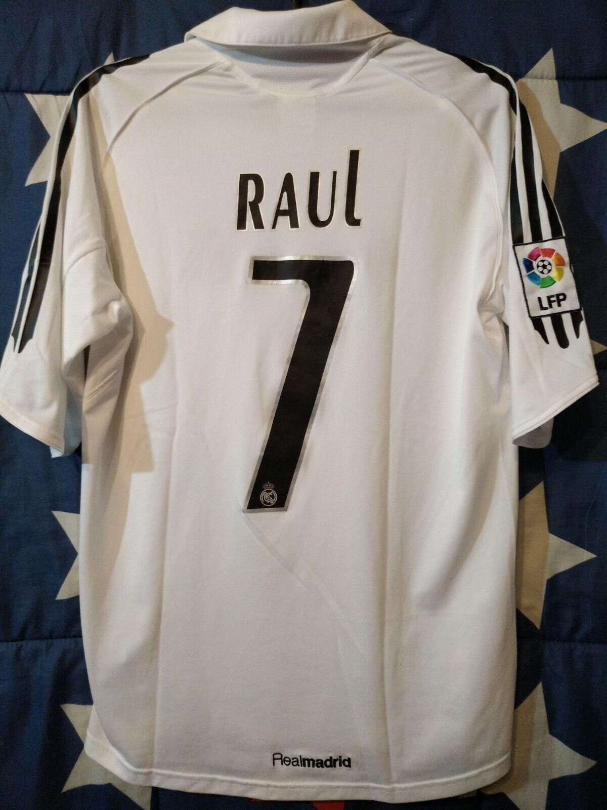 Größe S Real Madrid Spain 2005-2006 HOME FOOTBALL SHIRT JERSEY RAUL  7