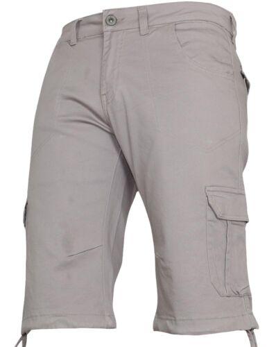 New Mens VON DENIM Cargo Combat Summer Camo Gym Casual Work Knee Length Shorts