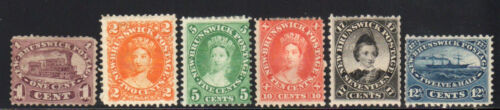 18601873 New Brunswick SC 611 Definitive Complete Set of 6, Mint Set