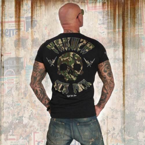 Nouveau Yakusa Messieurs Sick bordeI Military T-Shirt-Noir