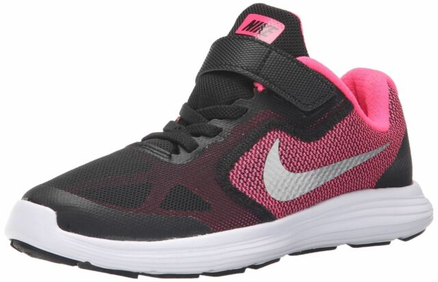 reputable site b7f48 1bca4 Nike Youth Revolution 3 (PSV) Black Pink Silver 819417-001