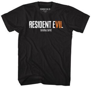 Resident-Evil-RE7-LOGO-BIO-HAZARD-T-Shirt-in-Sizes-SM-5XL-WITH-NECK-TAG-BLACK