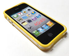 Yellow TPU Frame/Bumpers for iPhone 4 - 4G/4S