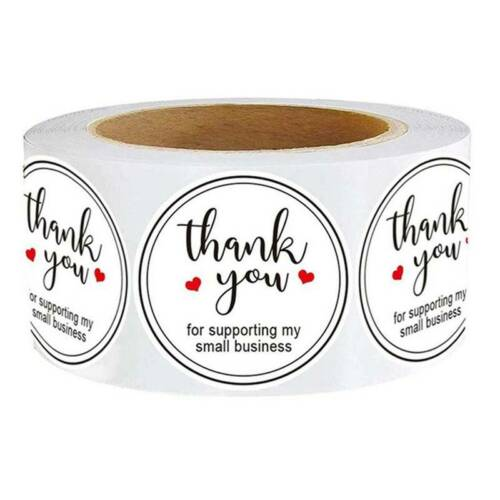 500Pc Thank you for Supporting My Small Business Stickers Sealing Labels Se ppx