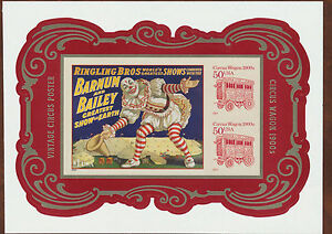 Circus-Souvenir-Sheet-USA-4905C-No-Die-Cuts-Imperf-from-Press-Sheet