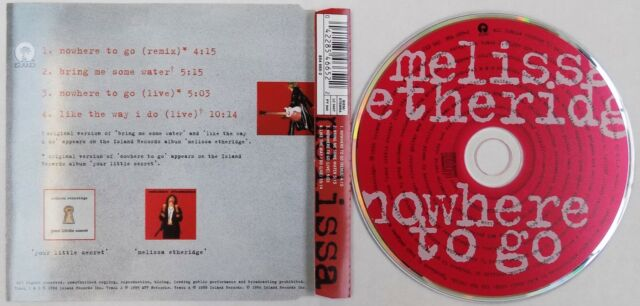 MELISSA ETHERIDGE CD Nowhere To Go 4 Track FRENCH Jewel case ! MINT