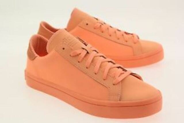 808ab826ee25 adidas Court Vantage Adicolor Mens S80257 Sun Glow Leather Shoes ...