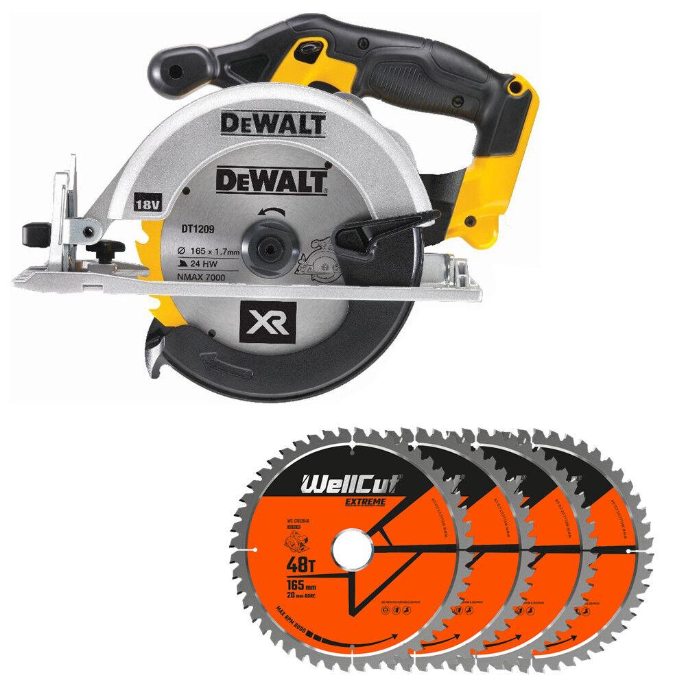 DeWalt DCS391N 18V XR li-ion Circular Saw 165mm With 4 Extra 48 Teeth Wood Blade