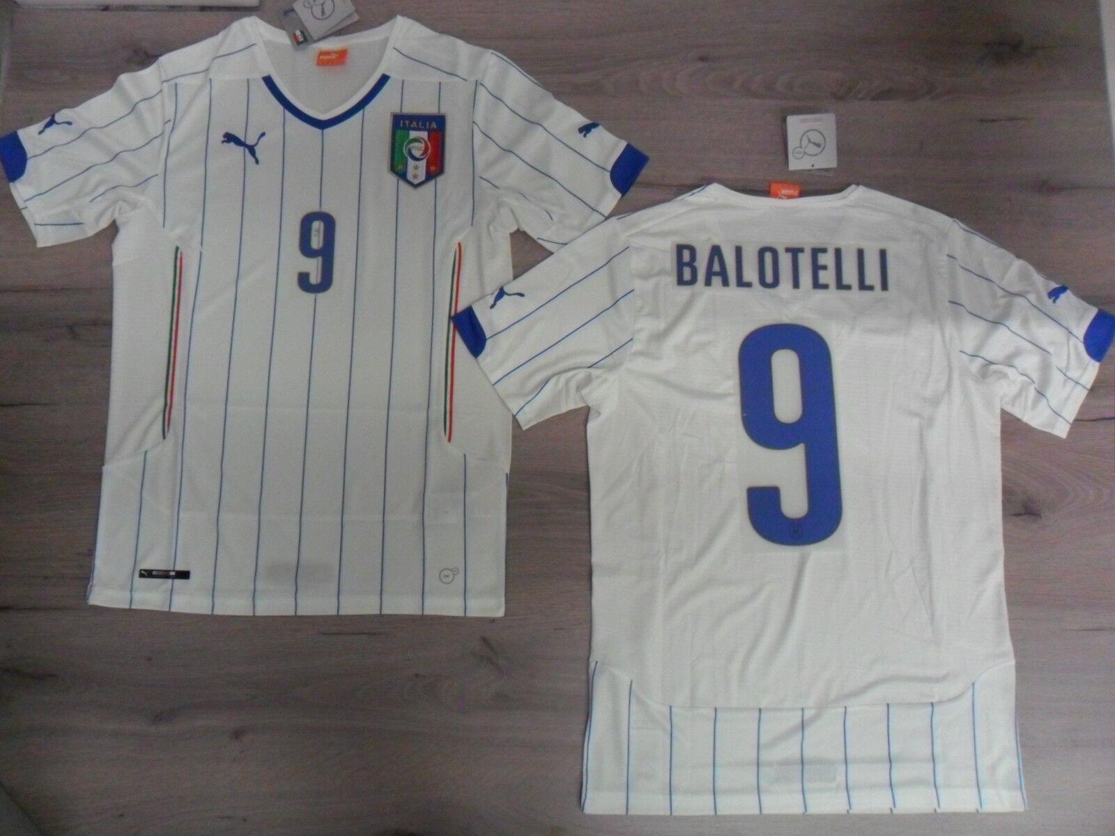 FW14 PUMA XXL AWAY ITALY 9 BALOTELLI T-SHIRT WORLDWIDE SHIRT JERSEY