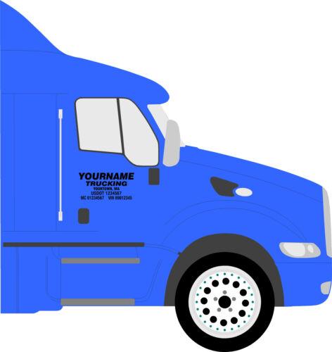 Semi Truck Decals Truck Door Lettering