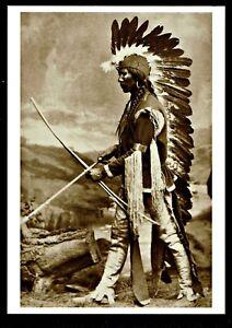 976-Postcard-A-Taos-Pueblo-Chief-Photo-by-Wm-Henry-Jackson-1875-NEW