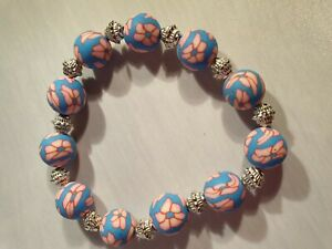 PINK-amp-BLUE-ROUND-BEADED-ELASTICATED-BRACELET-VERY-PRETTY-COLOURS