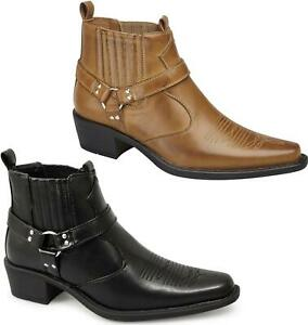 Us Brass Mens Eastwood Cowboy Ankle