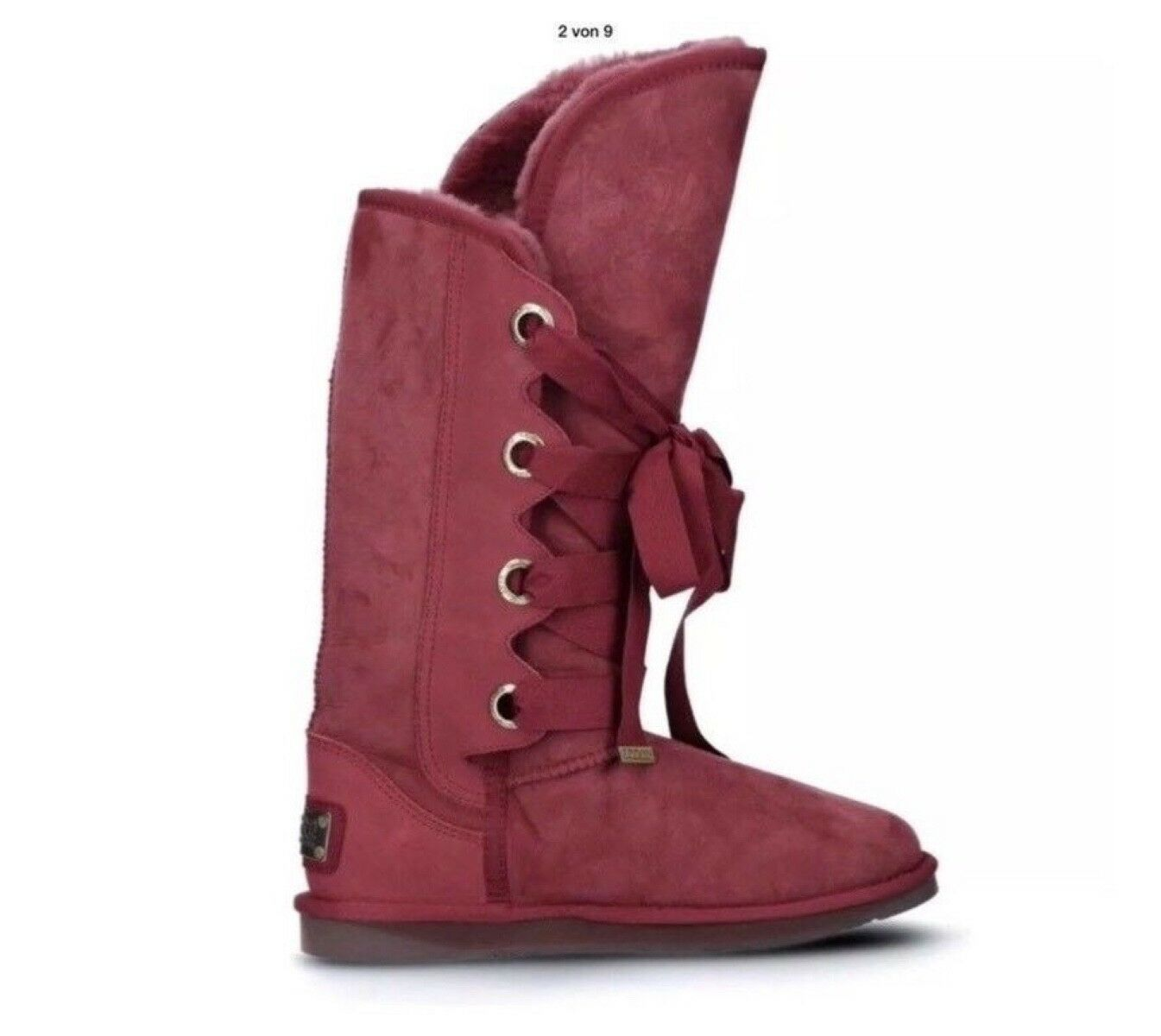 NEU❗️Australia Luxe Coole Stiefel Stiefel Bedouin Tall Gr.38 Lammfell Bordeaux