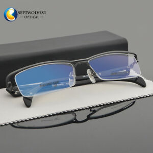 3f235bf3c10 New Half Rimless Men s Eyeglasses Frames Metal Optical Glasses Frame ...