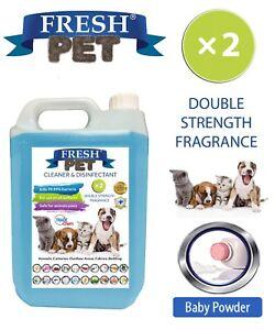 Fresh-Pet-Niche-Chien-Desinfectant-Double-Force-Parfum-5L-Poudre-pour-Bebes
