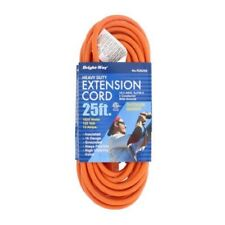 Extension Cord Bright Way R2625 Heavy Duty 25ft Long Indoor Outdoor Safe Orange