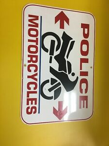 Police-Motorcycles-Bike-Aluminum-Sign-12x18