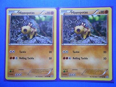 POKEMON CARD XY PRIMAL CLASH HIPPOPOTAS 87//160