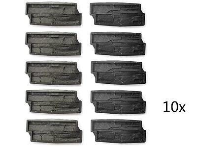 Klinker Modestil 10 Betonformen 1m² Schalung Gießform Klinker #f11 Schieferstruktur Naturstein