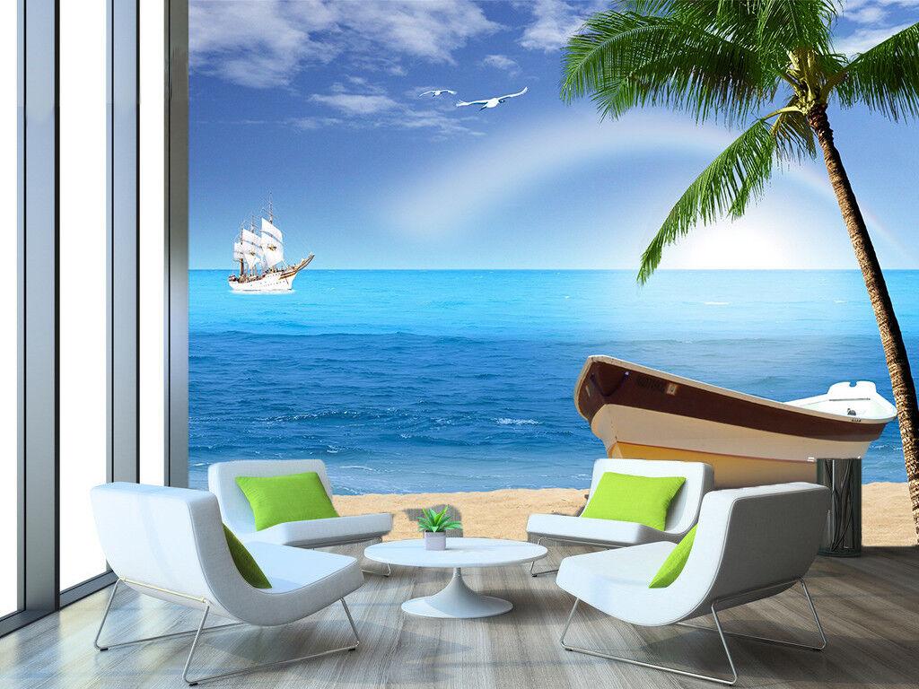 3D Kokosnuss Strand Natur 8093 Tapete Wandgemälde Tapeten Bild Familie DE Jenny    Erste Qualität    Spielzeugwelt, fröhlicher Ozean    Klein und fein