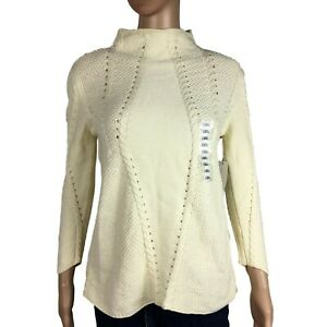 New-Love-Token-Womens-Turtleneck-Sweater-White-Size-XS-NWT