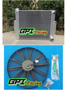 3 core aluminum radiator for JEEP CJ7 WITH CHEVY V8 LS SWAP 76-1986 manual+FAN