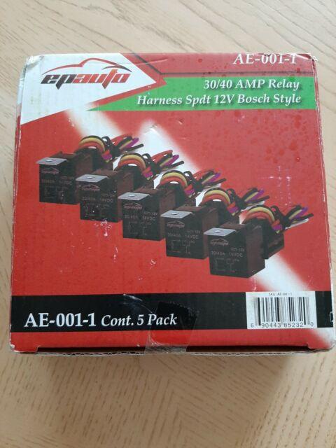 5 40 Amp Relay Harness Spdt 12v Bosch Style