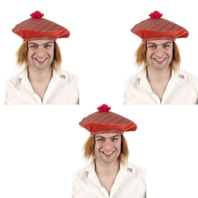 TARTAN JIMMY HAT TAM O/' SHANTER HAT SCOTTISH HAT