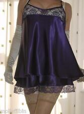 Beautiful silky satin lace plum camisole top  french knicker~ panties set large